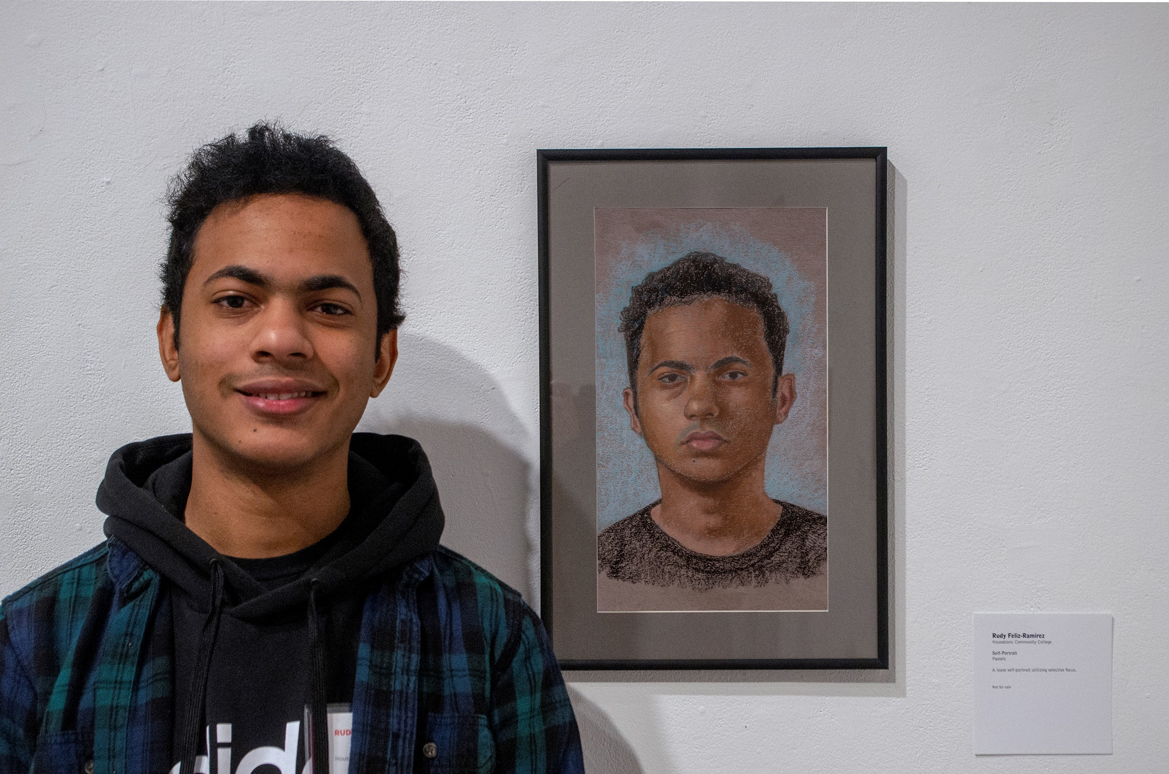 Rudy Ramirez with Pastel Self Portrait