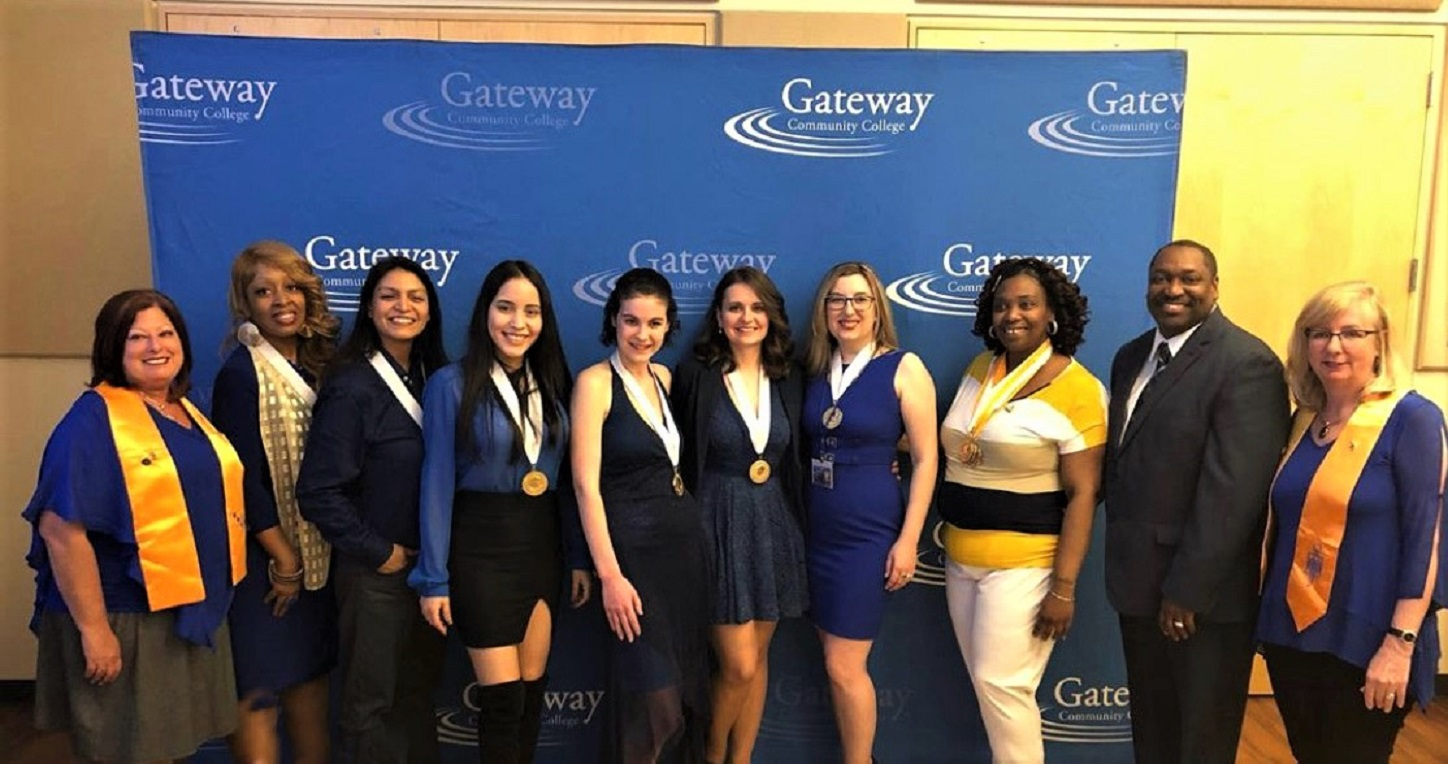 GCC's Five-Star PTK Chapter officer team