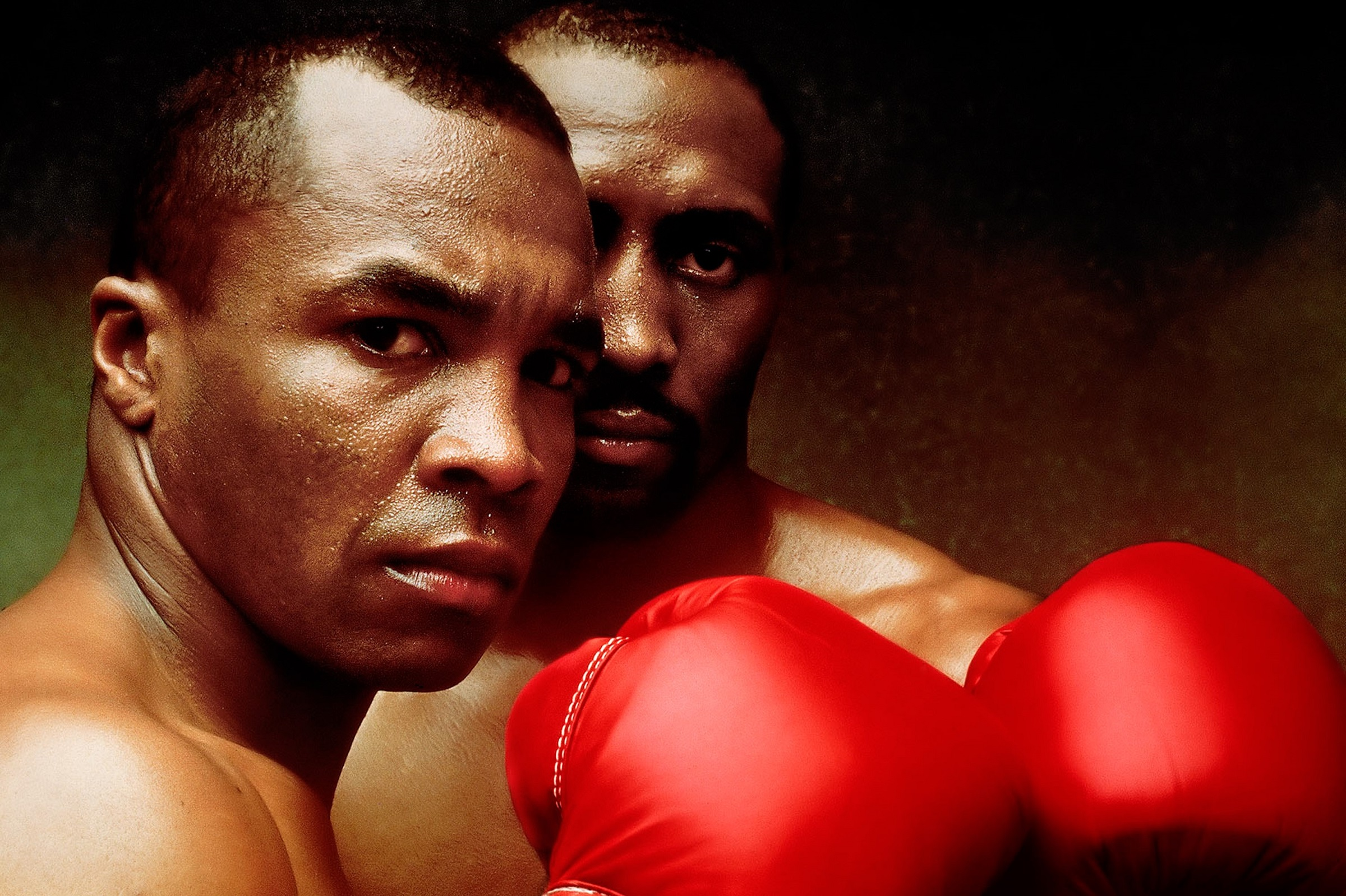 Sugar Ray Leonard and Tommy Hearns, NYC, 1989 by Walter Iooss