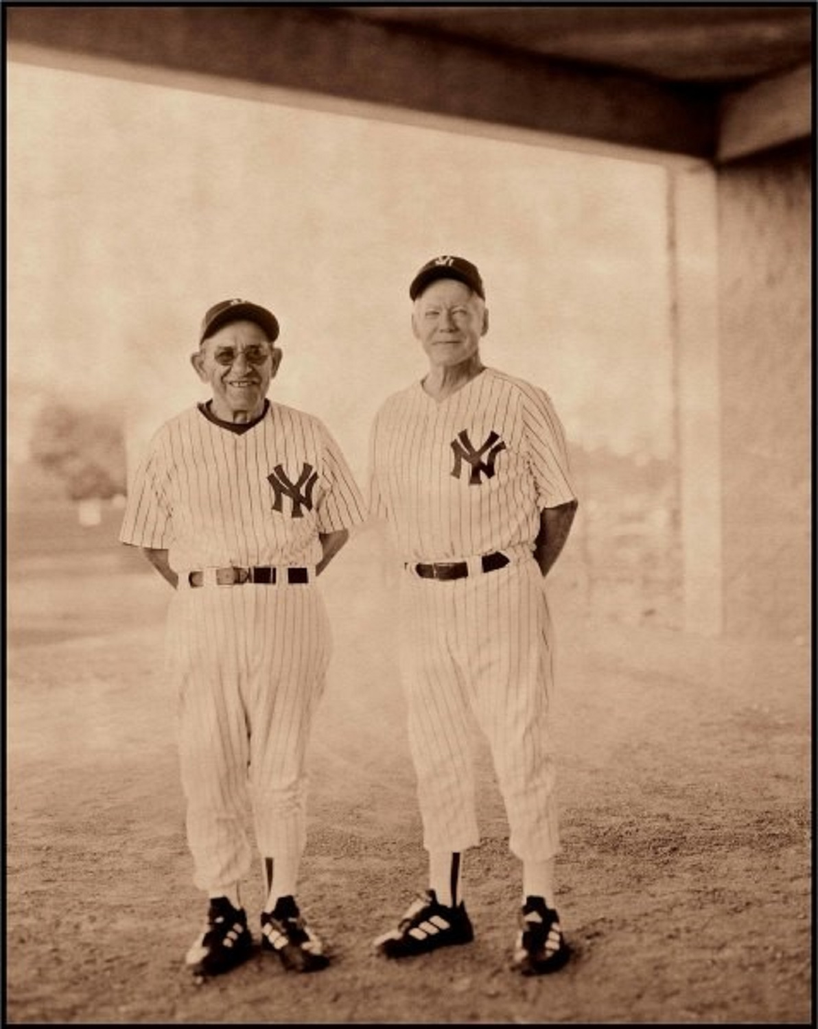 Yogi Berra and Whitey Ford, Tampa, FL, 1991, by Walter Iooss
