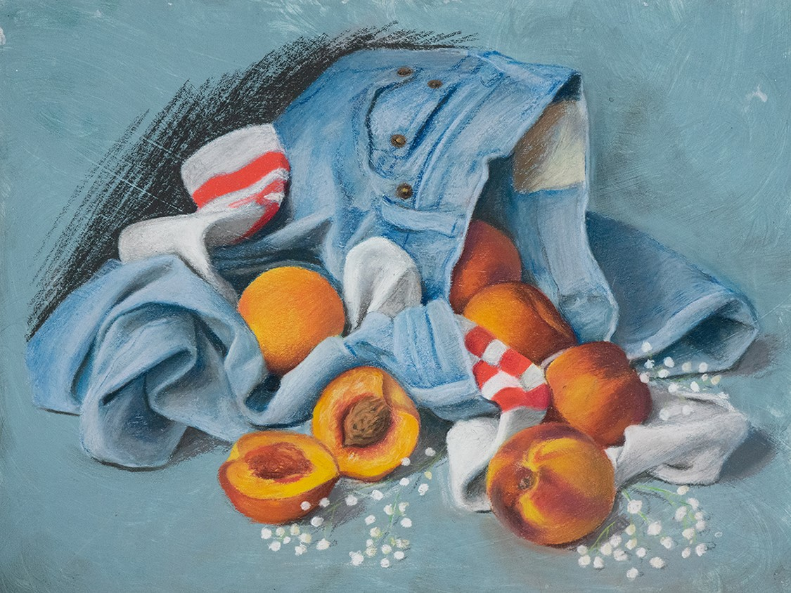 Peaches by HCC student, Luis Lopez