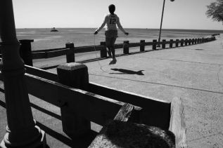 Girl Jumping Rope, St. Mary's by the Sea, Bridgeport, CT 2014