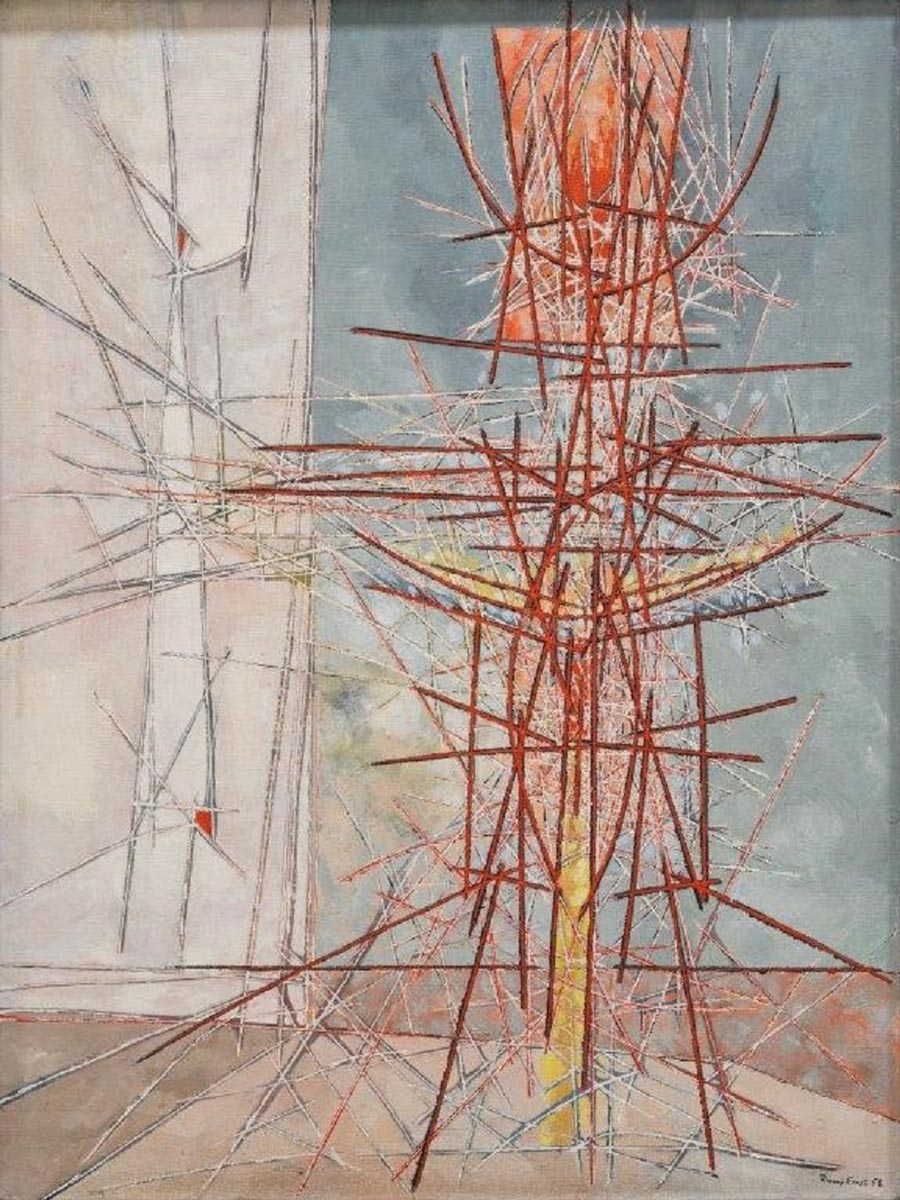 Jimmy Ernst, Untitled, 1958. Oil on canvas.