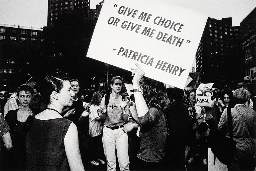 Choice Aint No Joke, Union Square, N.Y.C., 1989 by Donna Ferrato