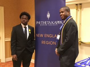President Michael Biggs along with former President Andrew Jones at the PTK Northeast Regional Conference