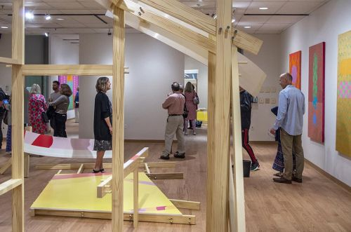 "Housatonic Museum of Art Re-Opens with ""Close to the Line"" Geometric Abstraction"